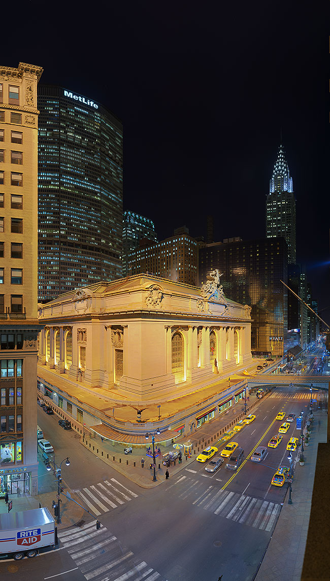 Grand central station and chrysler i new york 1 - Grand tableau new york ...