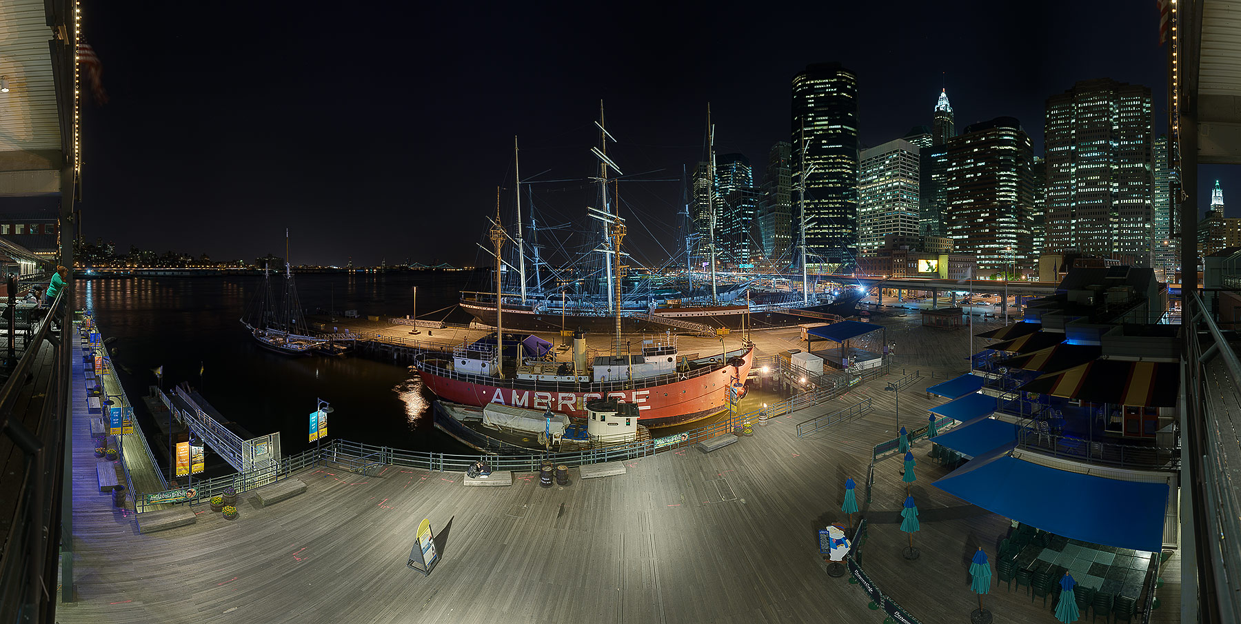 south street seaport The south street seaport is a historic area in the new york city borough of manhattan, centered where fulton street meets the east river, and adjacent to the.